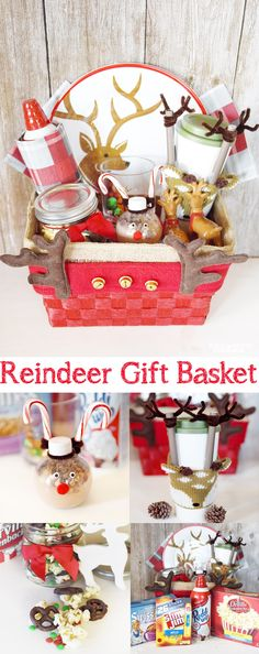 Reindeer Gift Basket!! Such a fun gift basket idea for Christmas! copy