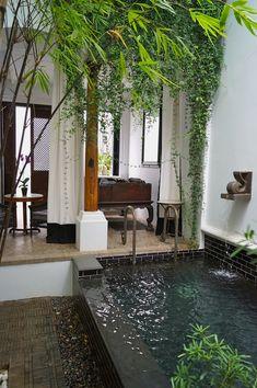 The Siam Hotel, Bangkok, Thailand Small Backyard Pools, Backyard Patio, Outdoor Pool, Dream Home Design, My Dream Home, Exterior Design, Interior And Exterior, The Siam Hotel, Style At Home