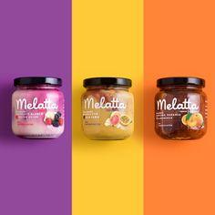 Melatta Not Your Average Jam is part of Food packaging design Jam packaging Jar packaging - Joghurt rezepte Yogurt Packaging, Jam Packaging, Food Packaging Design, Packaging Design Inspiration, Brand Packaging, Branding Design, Identity Branding, Corporate Design, Brochure Design