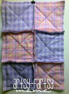 diy rag quilt this site will give a link with tep by step directions. Just what i have been looking for.