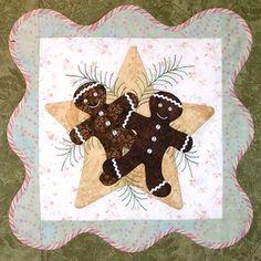 cliquez ici pour agrandir l'image de Quilt Noël Anita - Bloc 3 (motifs)