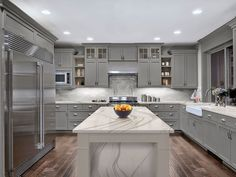 How much will it cost for Brittanicca Cambria Quartz Installed Countertops? Get a Free Quote on in-stock Brittanicca Cambria Quartz Countertops. Home Decor Kitchen, Kitchen Furniture, New Kitchen, Home Kitchens, Kitchen Counters, Kitchen Ideas, Kitchen Cabinets, Soapstone Kitchen, Furniture Stores