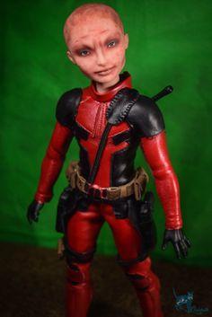 Ever After High Doll OOAK Deadpool Repaint by Chelokotik   Included: OOAK Deadpool with handmade clothes, handmade boots, handmade guns,