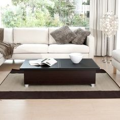Hokku Designs Monroe Coffee Table in Black