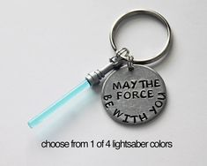 STAR WARS. May The Force Be With You LIGHTSABER Keychain. Lightsaber. Star Wars. Star Wars Keychain. Force. Lightsaber Keychain