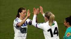 Lotta Schelin #8 and Ada Hegerberg #14