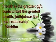 """""""Health is the greatest gift..."""" Buddha #quote"""