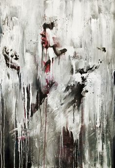 This is a good painting as it is abstract and shows emotion. this painting has good neutral colours with a touch of red which can be used to symbolism anger