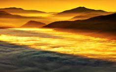 Jesienny wschód słońca na Caryńskiej
