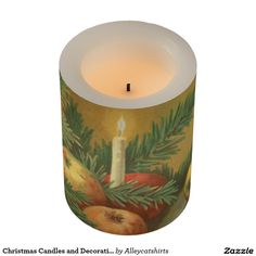 Christmas Candles and Decoration Flameless Candle