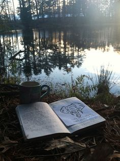 Relaxing. Tea, journals, writing, woods, water, coffee, fresh air. #ELSummerFun @Mary Taylor Thomas Life