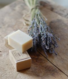 handmade lavender soap...want some of this.