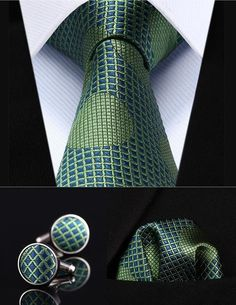 Cheap mens ties, Buy Quality square tie directly from China cufflinks set Suppliers: Party Wedding Classic Pocket Square Tie Green Blue Dot Silk Men Tie Necktie Handkerchief Cufflinks Set Best Wedding Suits, Best Wedding Colors, Wedding Ties, Party Wedding, Trendy Wedding, Tie A Necktie, Diamond And Silk, Tie Crafts, Tie Pattern