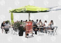 People in outdoor cafe cutout for 13.6.2016 by Gobotree