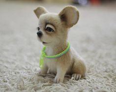 Needle Felted chien jouet Custom soft sculpture Needle par VladaHom