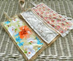 shabby chic bookmarks   fabric bookmarks  by SouthernShabbyGal, $8.00