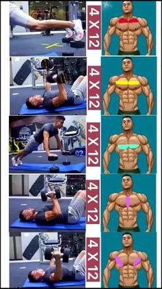 Abs And Cardio Workout, Gym Workouts For Men, Gym Workout Chart, Gym Workout Videos, Workout Women, Chest Workout For Men, Chest Workout Routine, Abs Workout Routines, Chest Workouts