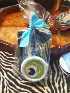Monsters inc party favor pack set of 8 birthday favors customized. $30.00, via Etsy.