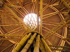Architecture, Roof Bamboo Design 3: Bamboo Structure Design at Assembly Room