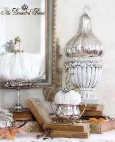 The Decorated House: ~ White Pumpkins - Soft www.MadamPaloozaEmporium.com www.facebook.com/MadamPalooza