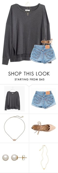"""""""it's one am."""" by classynsouthern ❤ liked on Polyvore featuring Madewell, Levi's, Kendra Scott, Honora, Stila and CAM"""
