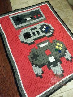 de imagem para pixel crochet blanket patterns xbox controller crochet ...
