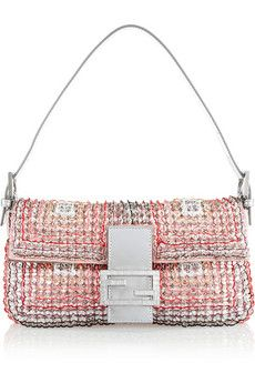 This Fendi Baguette will always be on my WISH LIST!!!Fendi Baguette embellished silk shoulder bag | NET-A-PORTER