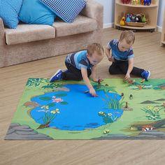 Small World Nature Reserve Themed Play Mat Felt Animal Patterns, Stuffed Animal Patterns, Felt Play Mat, Play Mats, Play School Activities, Cardboard Crafts Kids, Felt Kids, Quilling Work, Small World Play