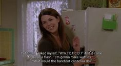 "For when you need some inspiration in the kitchen. 22 Of The Best ""Gilmore Girls"" Quotes To Live Your Life By Babette Ate Oatmeal, Girlmore Girls, Girls Life, Gilmore Girls Quotes, Lorelai Gilmore, Lauren Graham, Barefoot Contessa, Tv Show Quotes, Music Tv"