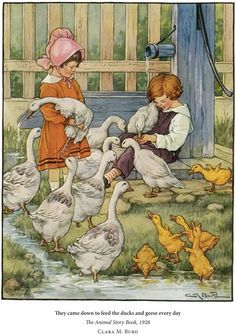 The Animal Story Book 1923 illustrated by Clara M. Burd via Dover Publications
