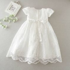 {Standard and tailored made newborn baby gown, gives the best solution. Girls Christening Dress, Baby Girl Dresses, Flower Girl Dresses, Baby Blessing Dress, Baby Birthday Dress, White Embroidered Dress, Baby Gown, Kids Robes, Young Children