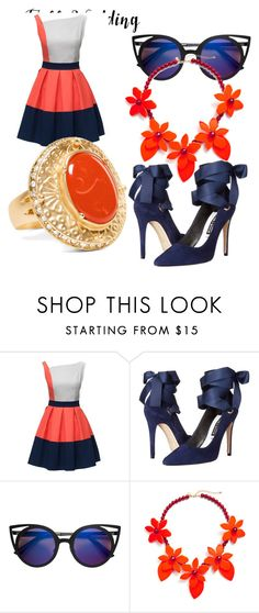 """""""Orange/Blue Wedd Me"""" by tamgilbert ❤ liked on Polyvore featuring Alice + Olivia, Chico's and fallwedding"""