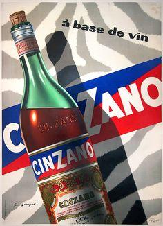 1958 Cinzano vintage advert poster