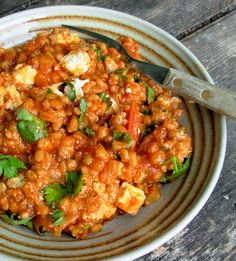 Vegetarian Friday! Barley, Tomato and Garlic Risotto by Yotam Ottolenghi