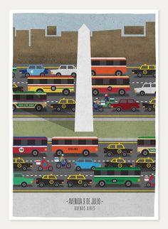 9 de Julio - Buenos Aires #poster #illustration