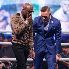 In brighter news, the Floyd Mayweather Vs. Conor McGregor press tour is finally, mercifully over. Conor Mcgregor Suit, Mcgregor Suits, Connor Mcgregor, Floyd Mayweather, Blazer Vest, Sports Celebrities, Dapper Men, Gq, Diamonds