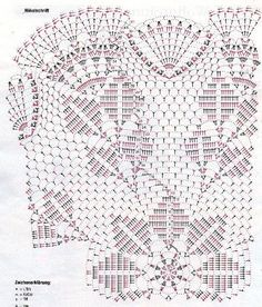 Diy Crafts - Kira scheme crochet: Scheme crochet no. Crochet Doily Diagram, Crochet Doily Patterns, Crochet Mandala, Crochet Chart, Filet Crochet, Crochet Motif, Crochet Doilies, Crochet Flowers, Crochet Needles