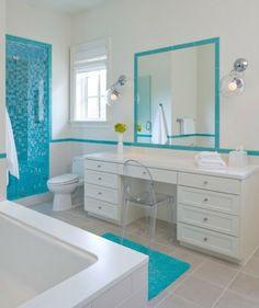 Les 77 meilleures images de salle de bain turquoise en 2017 | Salle ...