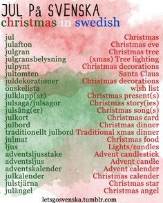 lets go svenska - Swedish Christmas Songs