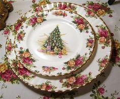 Old Country Roses Christmas Magic Salad Plate Royal Albert