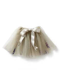 perfect party wear for little girls  - little tutu skirt with multi colour sequins and bow