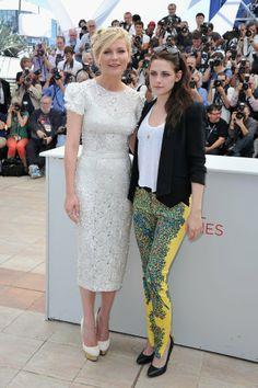 Kirsten Dunst in Dolce & Gabbana and Kristen Stewart in BalenciagaNicolas Ghesquiere