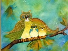 Inspiration from Monica's Tangled Web -  An original painting by Sally Simmons