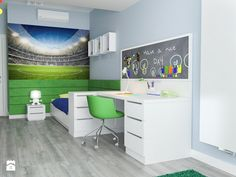 Projekt wnętrz mieszkania - Średni pokój dziecka dla chłopca dla nastolatka, styl nowoczesny - zdjęcie od ARCHISSIMA