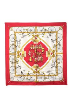 Vintage Hermes Les Becanes Silk Scarf by LXR on @HauteLook