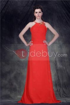 Hot A Line Floor-Length Halter Anderai's Evening Dress