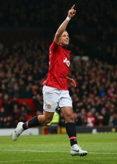Chicharito of Manchester United against Swansea City AFC