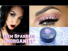 Maquillaje CITRINE Gem Sparkles Colaboracion Motives Cosmetics / HALO Smokey Eye   auroramakeup - YouTube