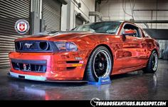 Ford mustang Shelby GT500 red chrome!