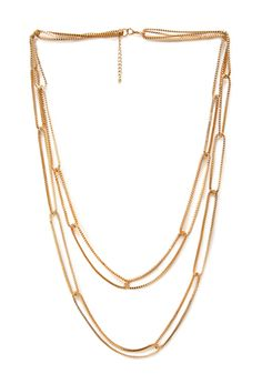 Layered Box Chain Necklace | FOREVER21 - 1000103608